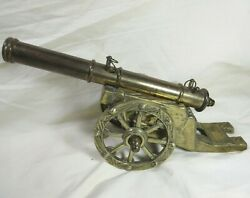 Vintage Signal Cannon Military Brass And Copper Desktop Model Made In Korea