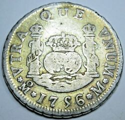 1756/55 Spanish Silver 2 Reales Piece Of 8 Real Colonial Era Two Bit Pirate Coin