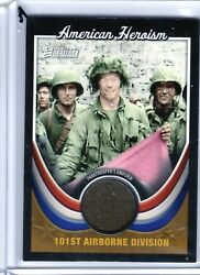 Topps American Heritage Relic Card Ah-wwii7 101st Airborne Uniform Heroism A Skc