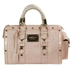 5005 Gianni Versace 100authentic Couture Leather Ostrich Couture Snap Handbag