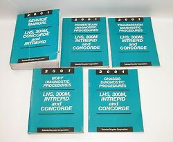 2001 LHS 300M Concorde Intrepid Factory Service Manuals GOOD USED CONDITION