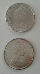 1965 And 1966 Silver Canada 50 Cents Elizabeth Ii Two-coin Set 加拿大银币