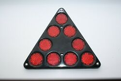 Vintage Old 1980s Triangle Reflector From Soviet Russian Truck And Cars