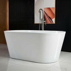 WOODBRIDGE 59quot; Acrylic Freestanding Soaking Tub with overflow amp; drain B N B0014