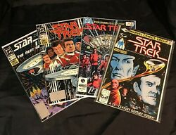 STAR TREK 1 1st Issue SET 1980 1984 1989 Next Generation (DC/Marvel 4 Comic Lot)