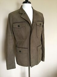 Nwt Berluti Unlined Leather Field Jacket Brown 50 40 Made Italy 5k+