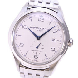 Baume And Mercier Clifton Small Second 65717 / Moa10099 Stainless Steel [e0517]