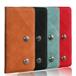 Luxury Flip Retro Genuine Real Leather Wallet Tpu Case Cover Stand For Asus/zte