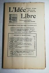 Magazine L'idea Free July-august 1953 43 Year Series 25 N5 Bouquinerie 157