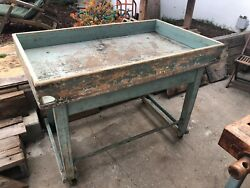 Vintage Industrial Bakers Chef Pastry Kitchen Table - Planter