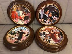 Bradford Exchange Gone With The Wind Musical Treasures Collectible Plates Framed