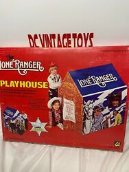 Vintage 1980 Carlin Playthings The Lone Ranger Playhouse 40x30x43 100 Complete