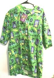 Disneyland Haunted Mansion Shag Tiki Shirt Green Xl Limited To 999 New W/ Tags