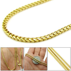 10k Yellow Gold 2.8mm Solid Diamond Cut Franco Link Chain Necklace 16andrdquo Andndash 24andrdquo