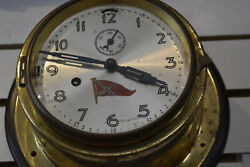 Antique Ships Bell Clock6dial Admiral Dwight Yates Engraved Us Navy