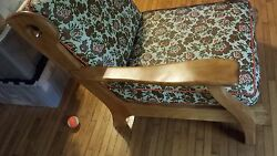 Rare Find Vintage 1950 Century Solid Hardwood Canadian Cottage Lounge Arm Chair