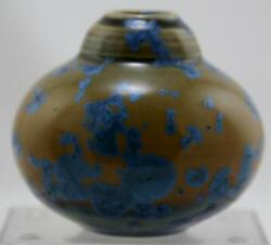 Bill Campbell 3.5 Crystalline Pottery Vase And039collectors Cornerand039 Series 2008 Mint