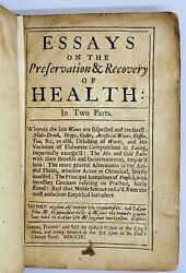 1704 Essays Preservation Recovery Health Pharmacology Curteis First Edition