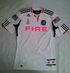 Rare Mls Works Adidas Formotion Chicago Fire 7 Mike Banner Signed Jersey Size M