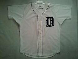 Vintage Rare 80's Made In Usa Medalist Sand-knit Detroit Tigers Jersey Size 44