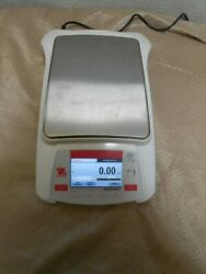Ohaus Ax5202 Balance Scale With Power Adapter 5,200g / 0.01g Tested Excellent