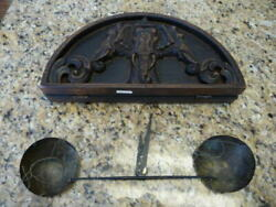 Antique Wooden Opium Balancing Scale Thai Thailand Elephant Weighing Vintage
