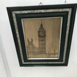Antique Musical Wall Clock Big Ben Silvered On Copper Dial