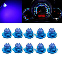 10* T5T4.7 Blue Neo Wedge LED Bulb Dash Climate Instrument Base Light Universal