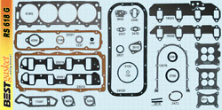Lincoln+mercury 383 410 430 462 Mel Gasket Set 1958-68 With Improved Rear Seal
