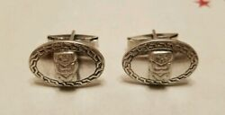 Vintage Central Or South American .900 Coin Silver Mayan Inca Aztec Cufflinks