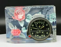 Soviet 70s Airforce Cockpit Clock Acs-1/achs-1 For Su/mig Jets In Nice Case