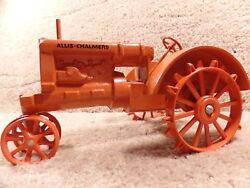 Rare Custom 1/16 Scale Diecast Allis-chalmers With Steel Wheels Tractor Toy