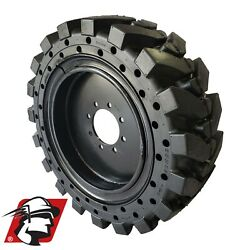 12x16.5 Maximizer Gt Tire Solid Skid Steer Tire 4 Tires/wheels Mustang 12-16.5
