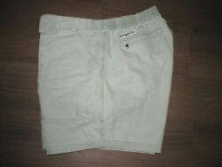 Hook And Tackle Khaki Cotton Hiking Fishing Short Menand039s 42 W-6