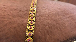 18k Yellow Gold and ruby tennis bracelet  7