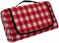 Extra Large Red Check Picnic Travel Outdoor Blanket Waterproof Beach Camping Mat $27.85