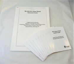 Laerdal Instructor Guide And 10 Student Guides For He-5000 Ecg Heart Model