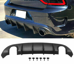 Fits 15-20 Dodge Charger Srt Rear Lip Bumper Valance Diffuser Pp Oe Style