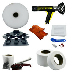 Single Large Boat Shrink Wrap Kit - Heat Gun Tools And Accessories - Includes Shr