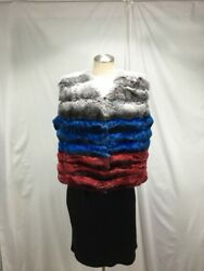 Soft Fluffy Worthwhile Russian Colors Chinchilla Lady Fur Vest Free Shiping