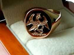 The Eagle Seal 20 Grams In Weight In White.yellow Or Rose 18ct Hallmarked Gold