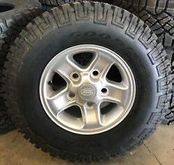 New Genuine Land Rover Defender Boost 16 Alloy Wheels And Good Year Tyres X5