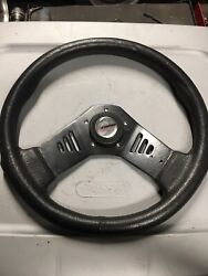Used Steering Wheel Off A Stratos Bass Boat. Universal Will Fit Other Brands