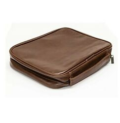 Dicksons Distressed Leather Look Zipper Pocket Bible Cover With Handle, 2x-large