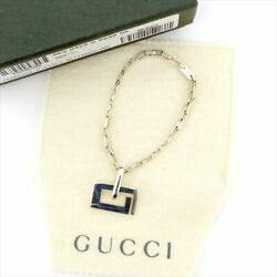 GUCCI Key chain Charm G Motif Silver 925  Authentic Free Shipping from Japan