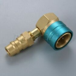 Low Side Refrigerant R1234yf Quick Coupler with R12 to R134A Adapter Valve Brass