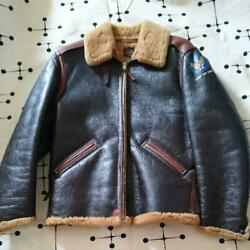 Vintage The Real Mccoyand039s B-6 Flight Jacket Dark Brown Outerwear Size 38 Rare
