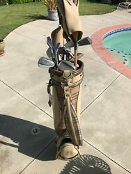 Burberry  Vintage  Wooden  Golf Clubs by Callaway  with  Bag