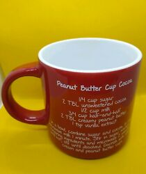 Mr. Food Test Kitchen Mug - Red With Recipe For Peanut Butter Cup Cocoa C2