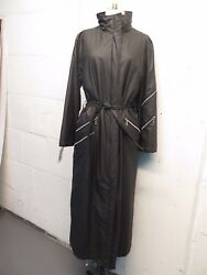 Vintage Gianni Versace Padded Belted Multizip Trench Coat Sz S Rare